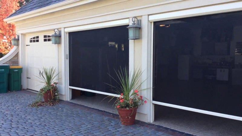 Motorized-Garage-Screen-Door